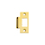 Click to swap image: T Strike Plate Polished Brass