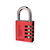 Click to swap image: Resettable Aluminium Combination Padlock RA40 Red