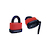 Click to swap image: Weatherproof Resettable Laminated Combination Padlock RL46W Red