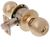 Click to swap image: Bala Knobset Entrance Lock Polished Brass