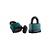 Click to swap image: Weatherproof Resettable Laminated Combination Padlock RL40W Green