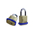 Click to swap image: Non-Rekeyable Solid Brass Padlocks R79 without Shackle Seal