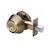 Click to swap image: Light Commercial Single Cylinder Deadbolt Antique Brass