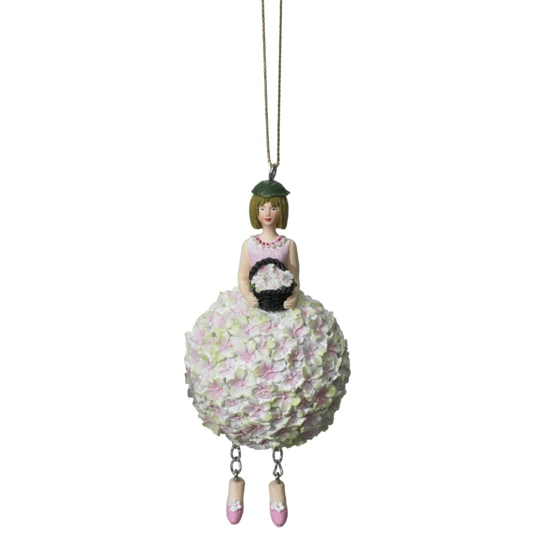 Flower Girl Hydrangea Pink/Green 11cm image 0