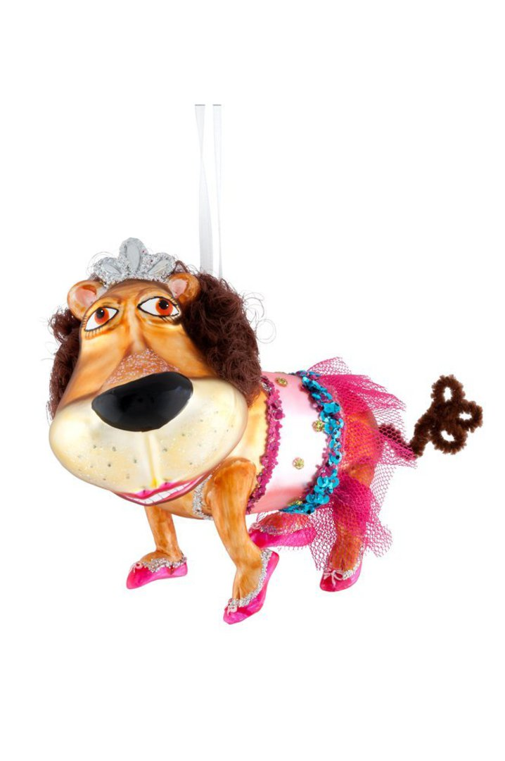 Glass Hanging Lion Ballerina 11cm image 0