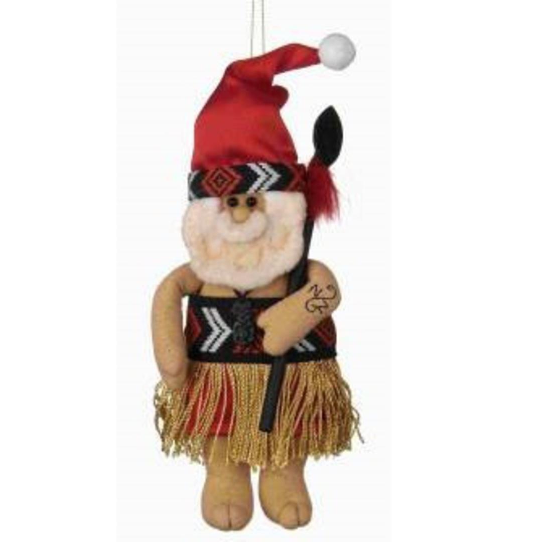 Iconic Fabric Maori Santa image 0