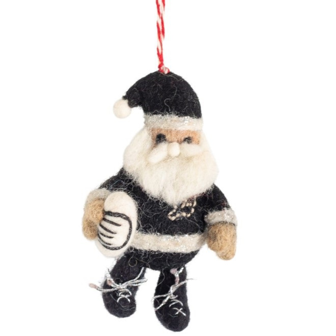 NZ Wool, Rugby Santa 9x6cm image 0