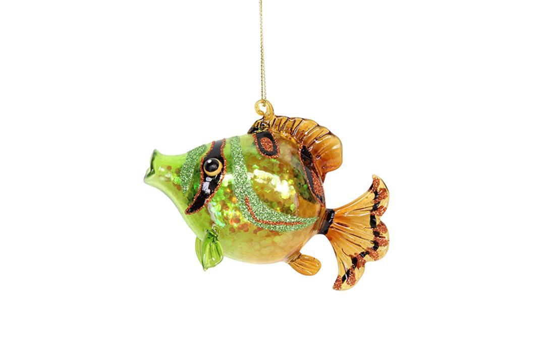 Glass Painted Blowfish 8cm image 0
