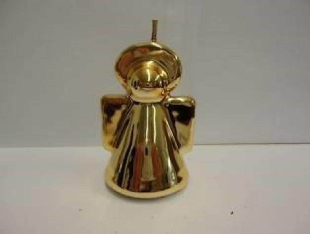 Metallic Mini Angel Candle 60x45mm image 0