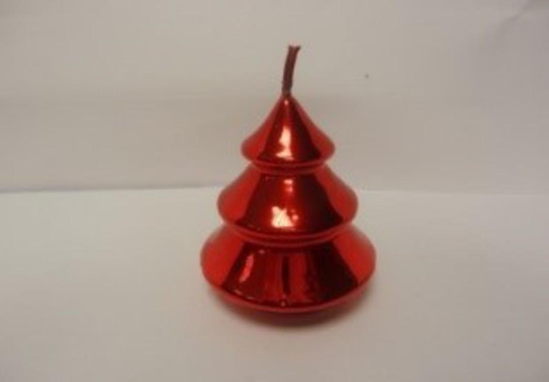 Metallic Mini Tree Candle 75x50 mm image 0