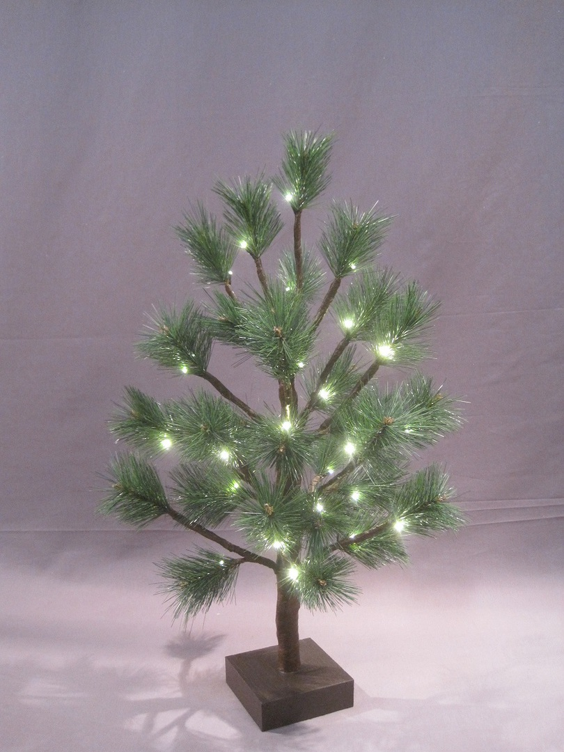 Pine Tree 60cm with 32 LED Lights 3x AA batts. image 0