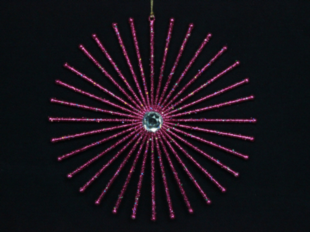 Fuschia Glitter Star Burst 20cm image 0