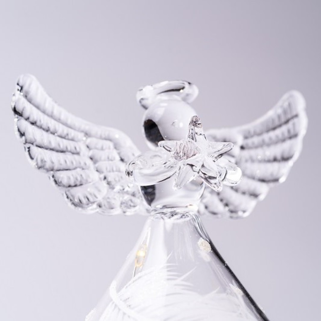 Glass Angel Rotund Clear, LED Dot Design image 0