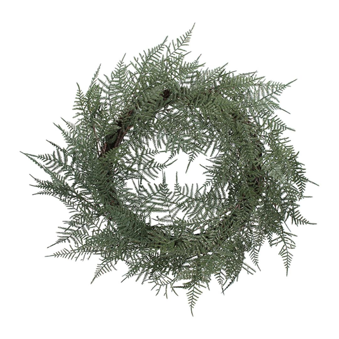 Green Fern Wreath 60cm image 0