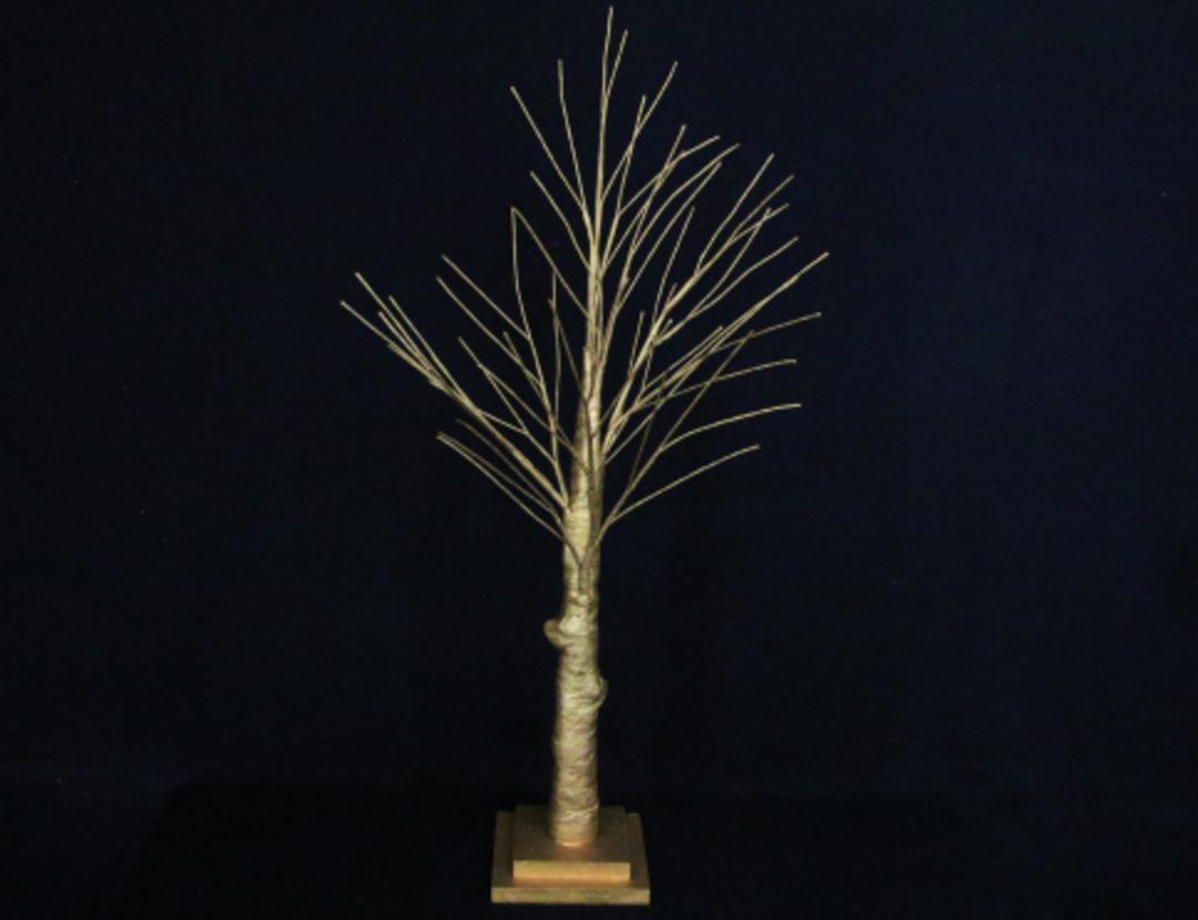 Matt Gold Spiky Tree 70cm image 0