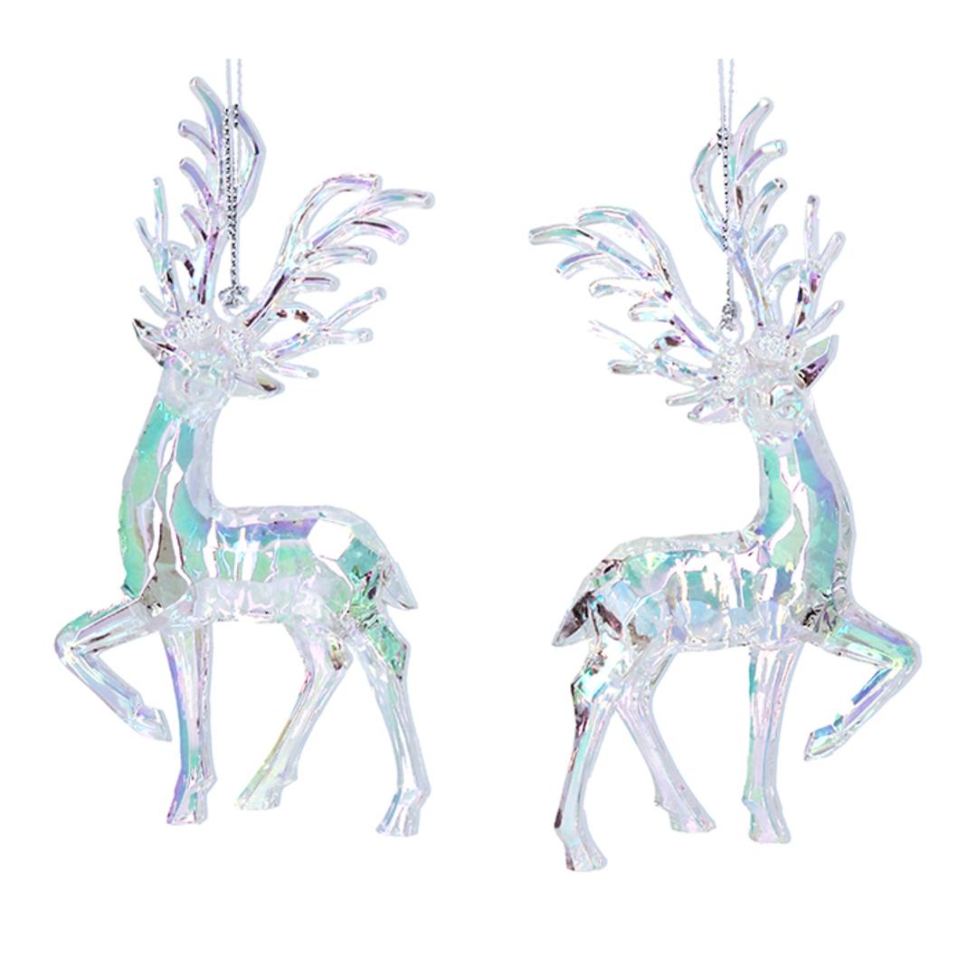 Acrylic Iridescent Reindeer 14cm image 0