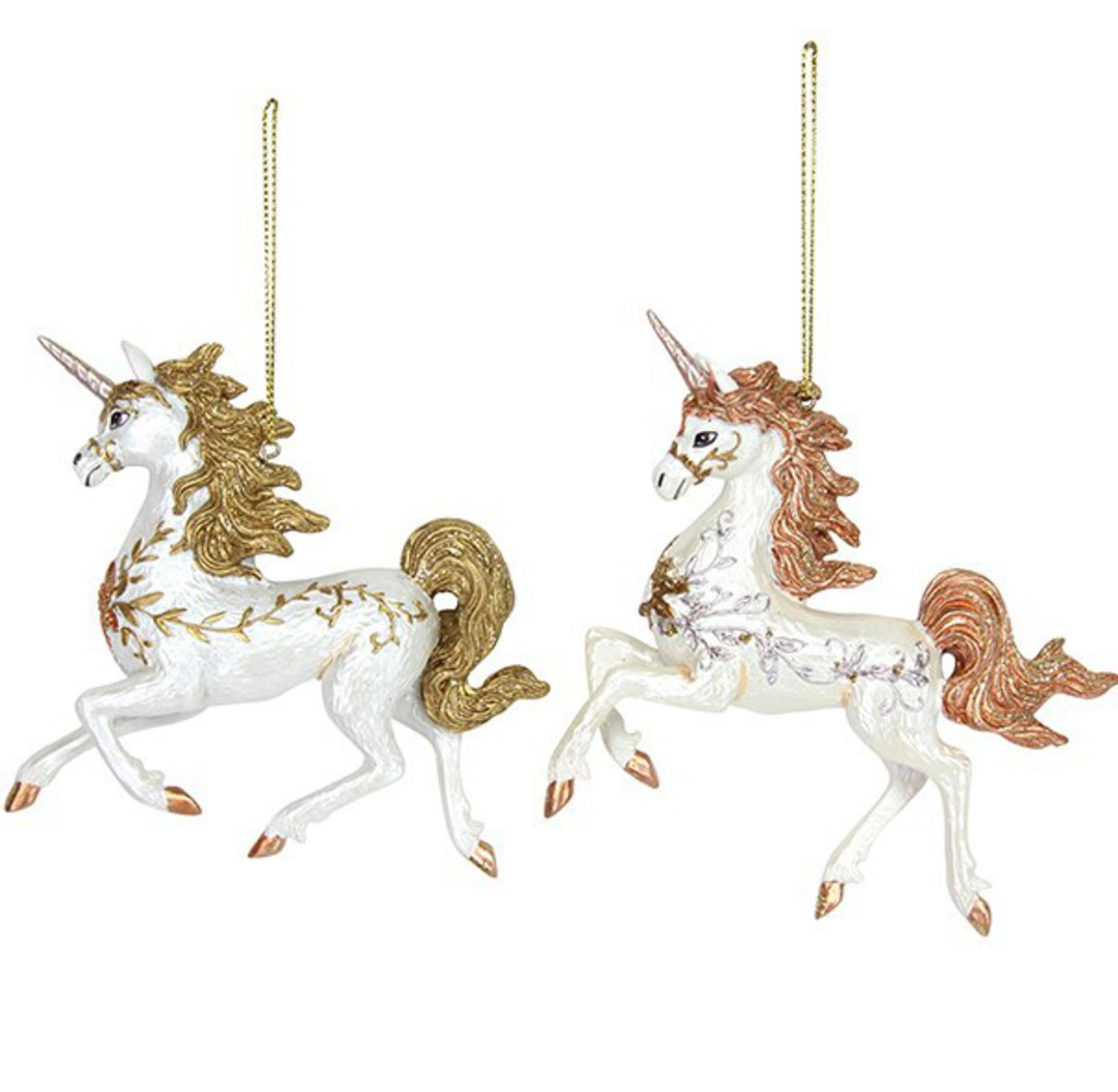 Resin Prancing Unicorn 11cm image 0