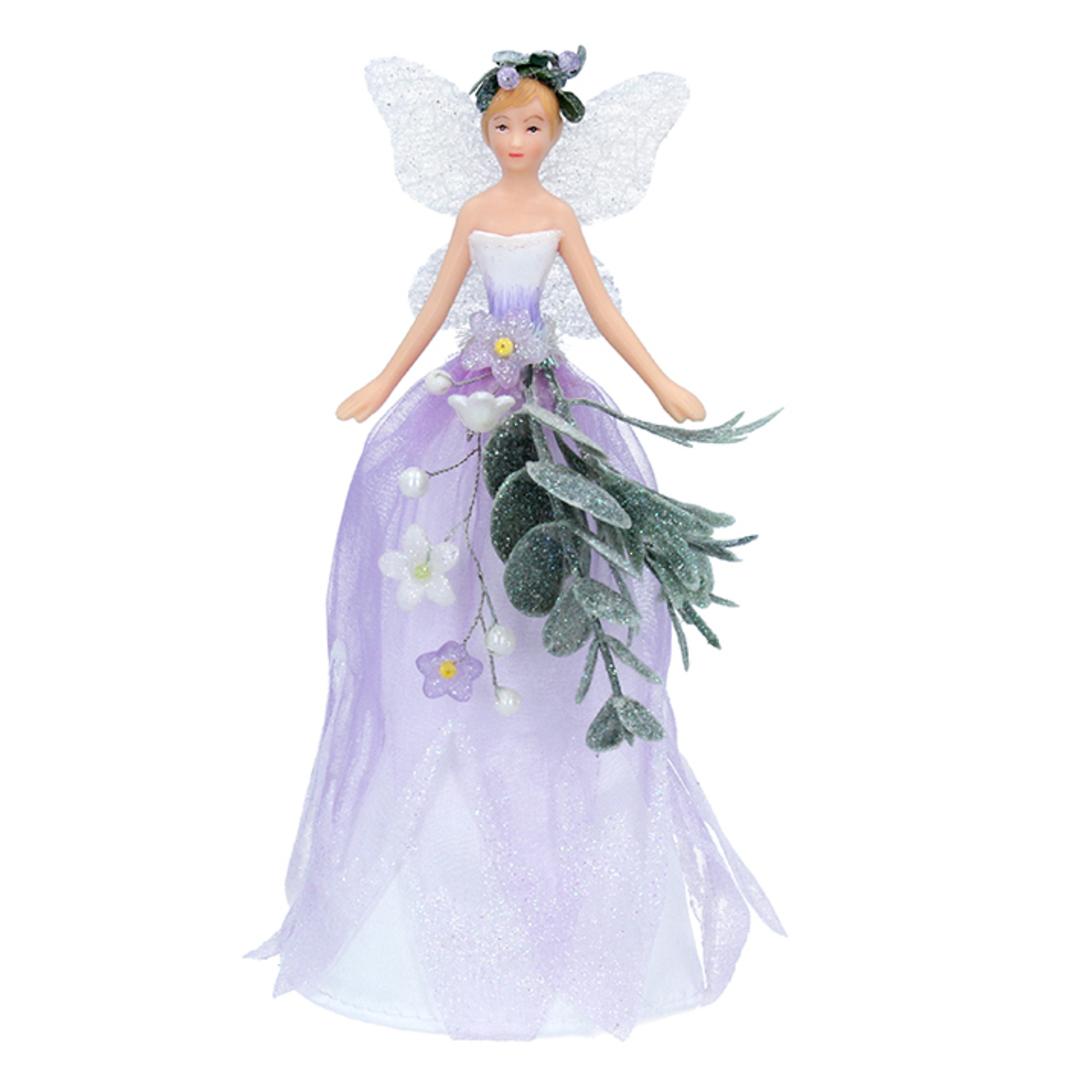 Resin Fabric Winter Dreams Fairy Topper 18cm image 0