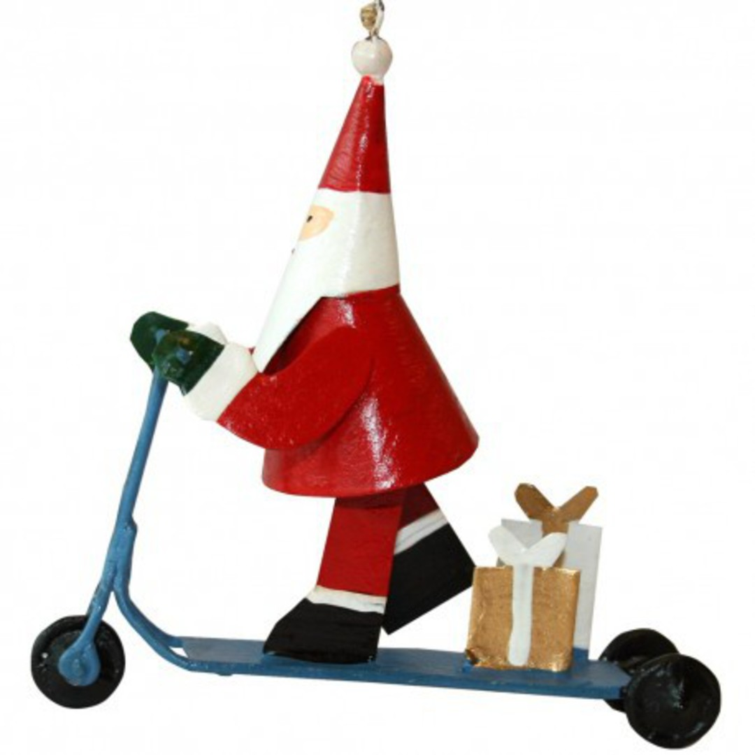 Tin Santa on Push Schooter image 0