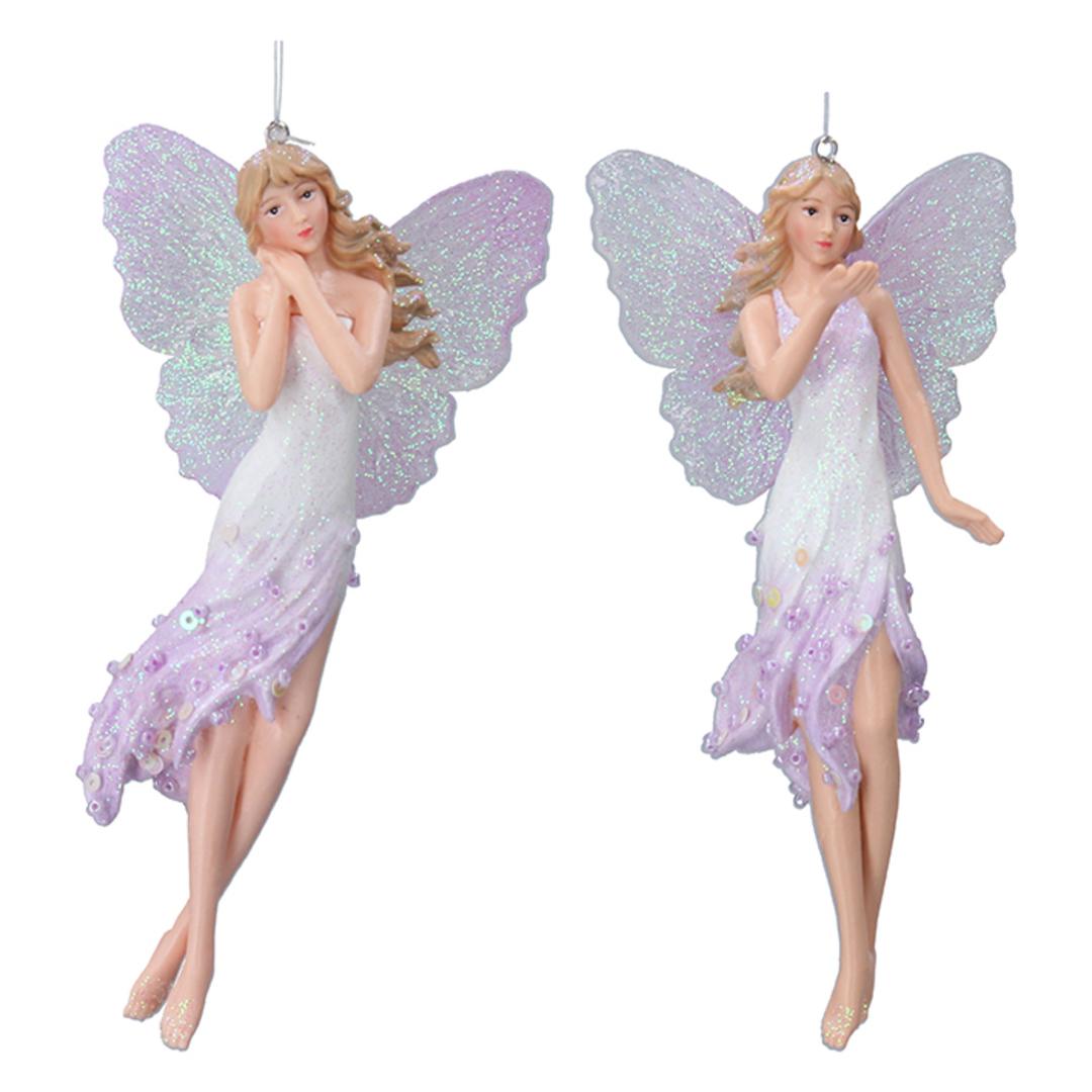Resin Tall Blue Lilac Fairy 15cm image 0