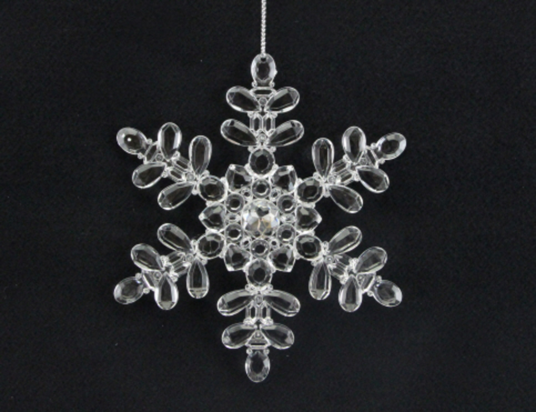 Clear Acrylic Snowflake 13cm image 0