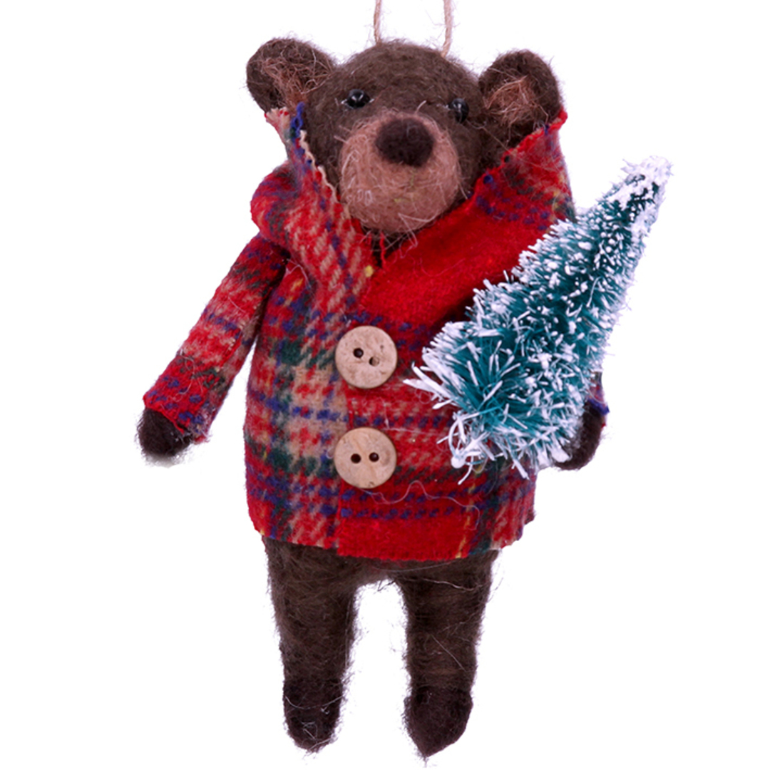 EcoWool Brown Bear in Coat 13cm image 0