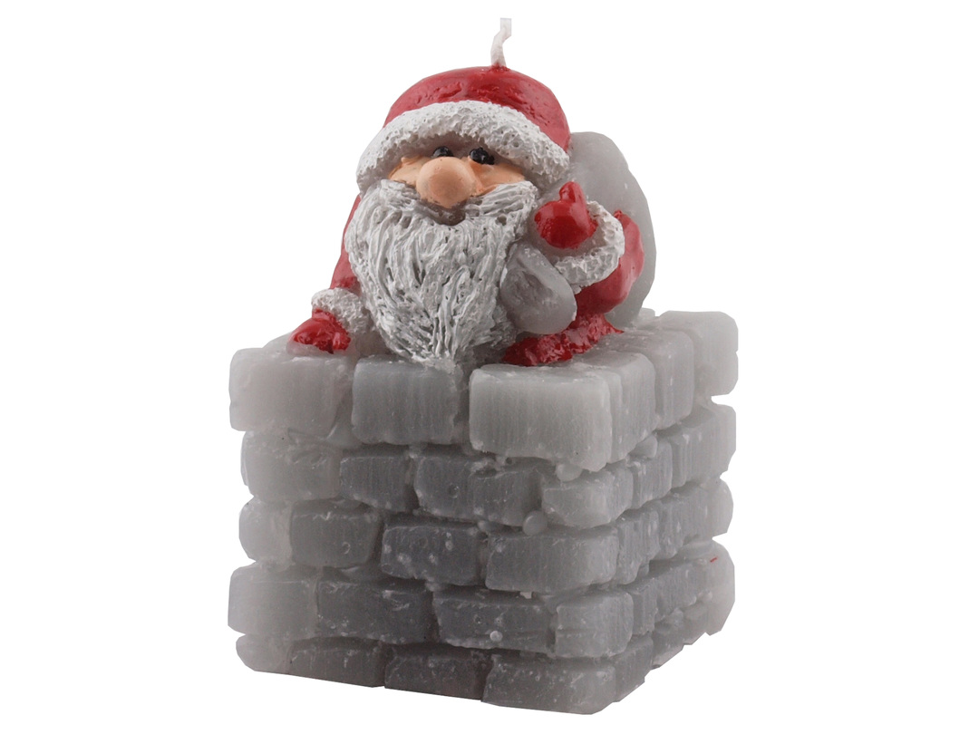 Santa in Chimney Candle image 0