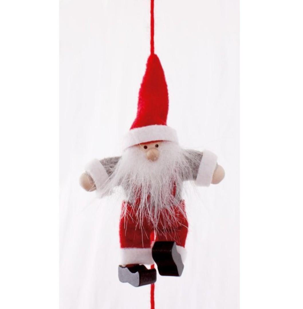 Santa in Overalls Garland 1.6mtr image 0