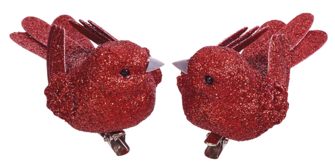 BirdClip Red Glitter 10cm image 0
