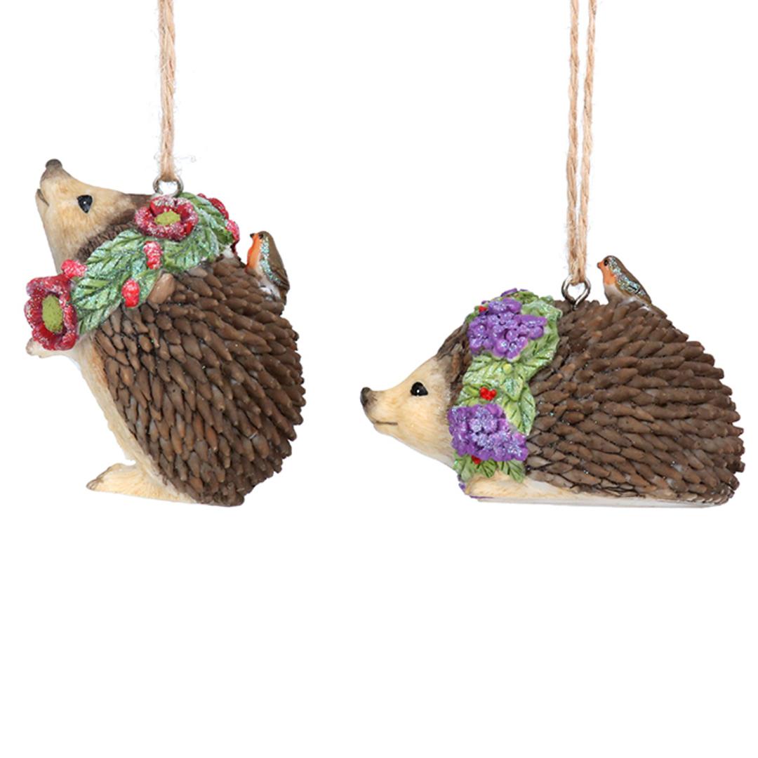 Resin Flower Hedgehog 5cm image 0