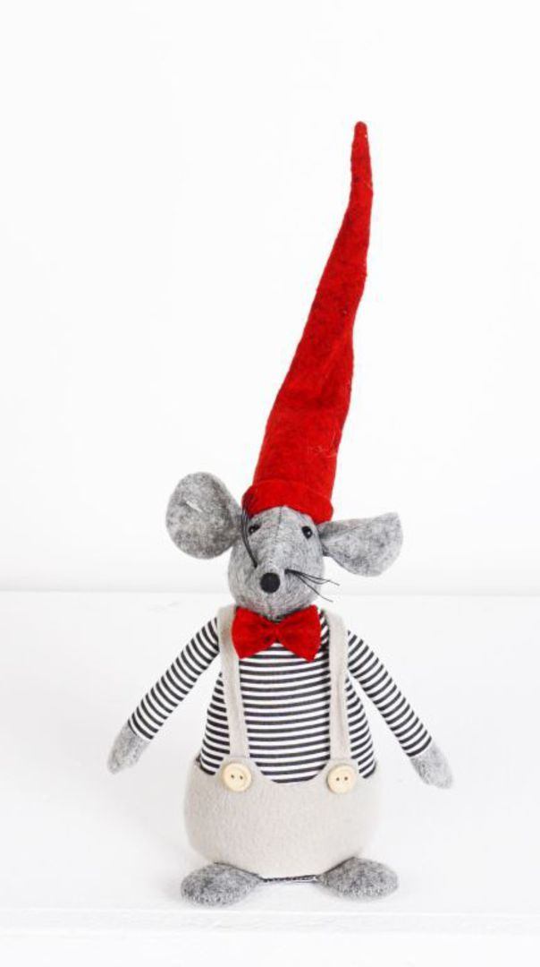 Plush Santa Mouse in Thermals image 0