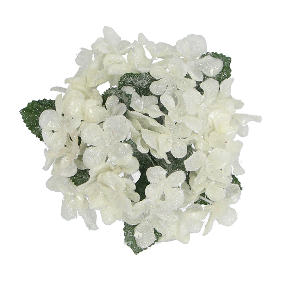 Dinner Candle Ring, White Hydrangea 12cm image 0