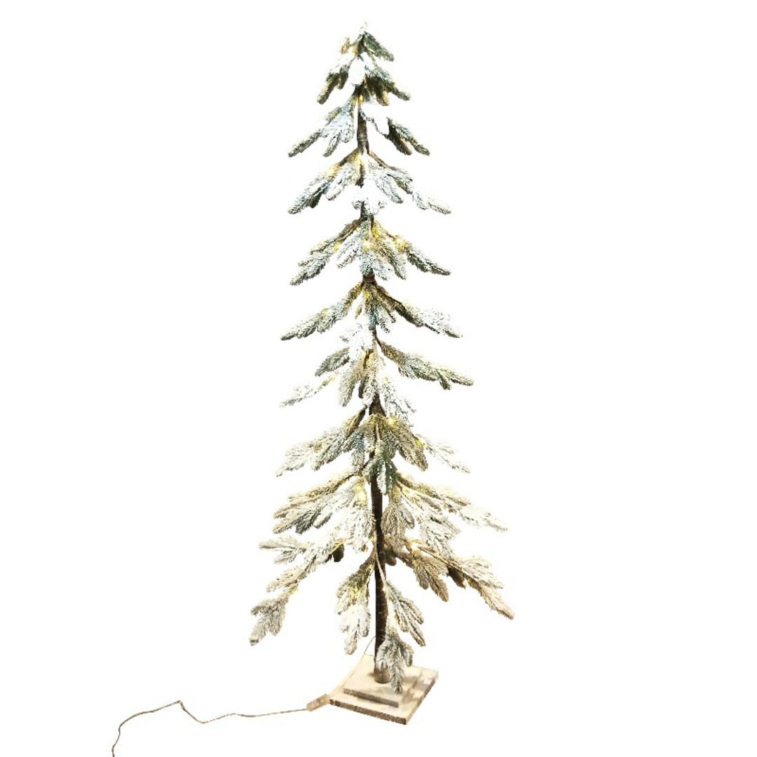 Snowy Fir Tree 1.8mtr, 80 LED Lights image 0