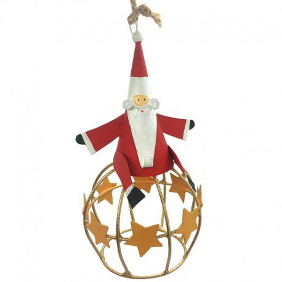 Tin Santa on Star Globe image 0