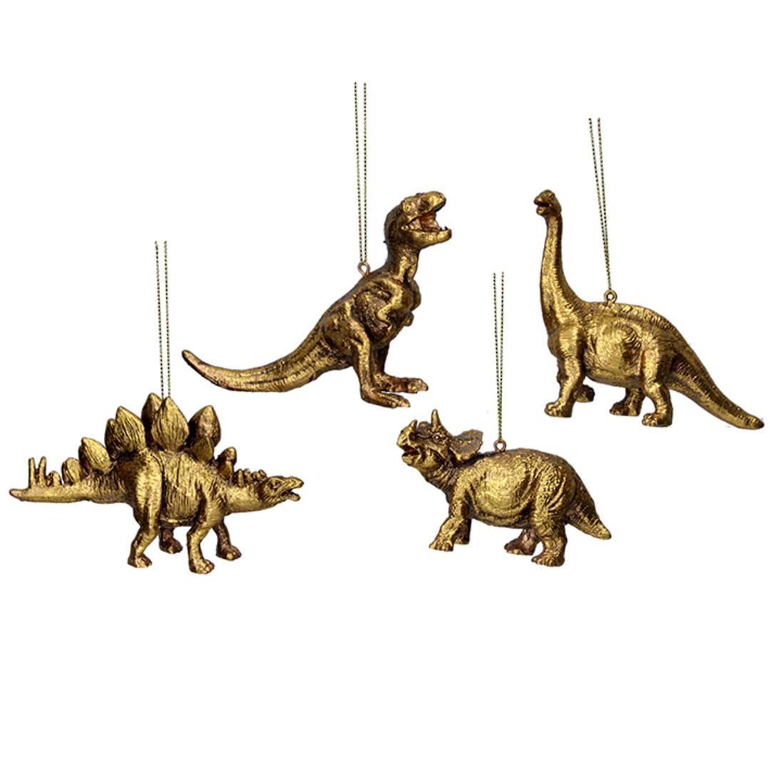 Resin Gold Dinosaur 10cm image 0