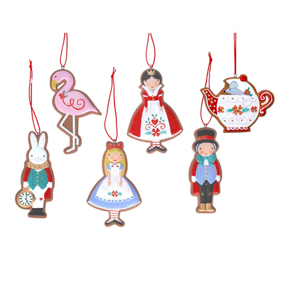 Resin Alice in Wonderland Gingerbread Cookie 9cm image 0