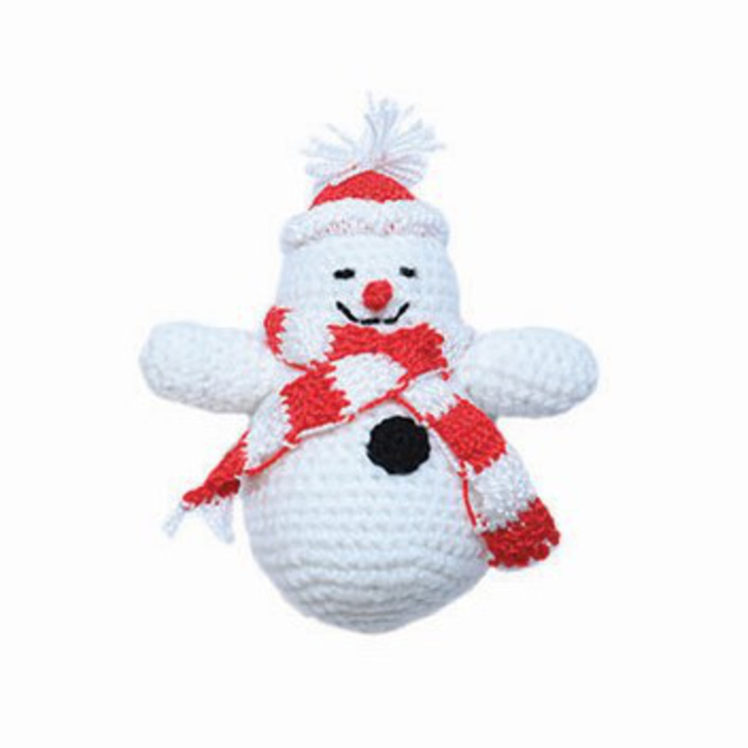 Small Crocheted Snowman image 0