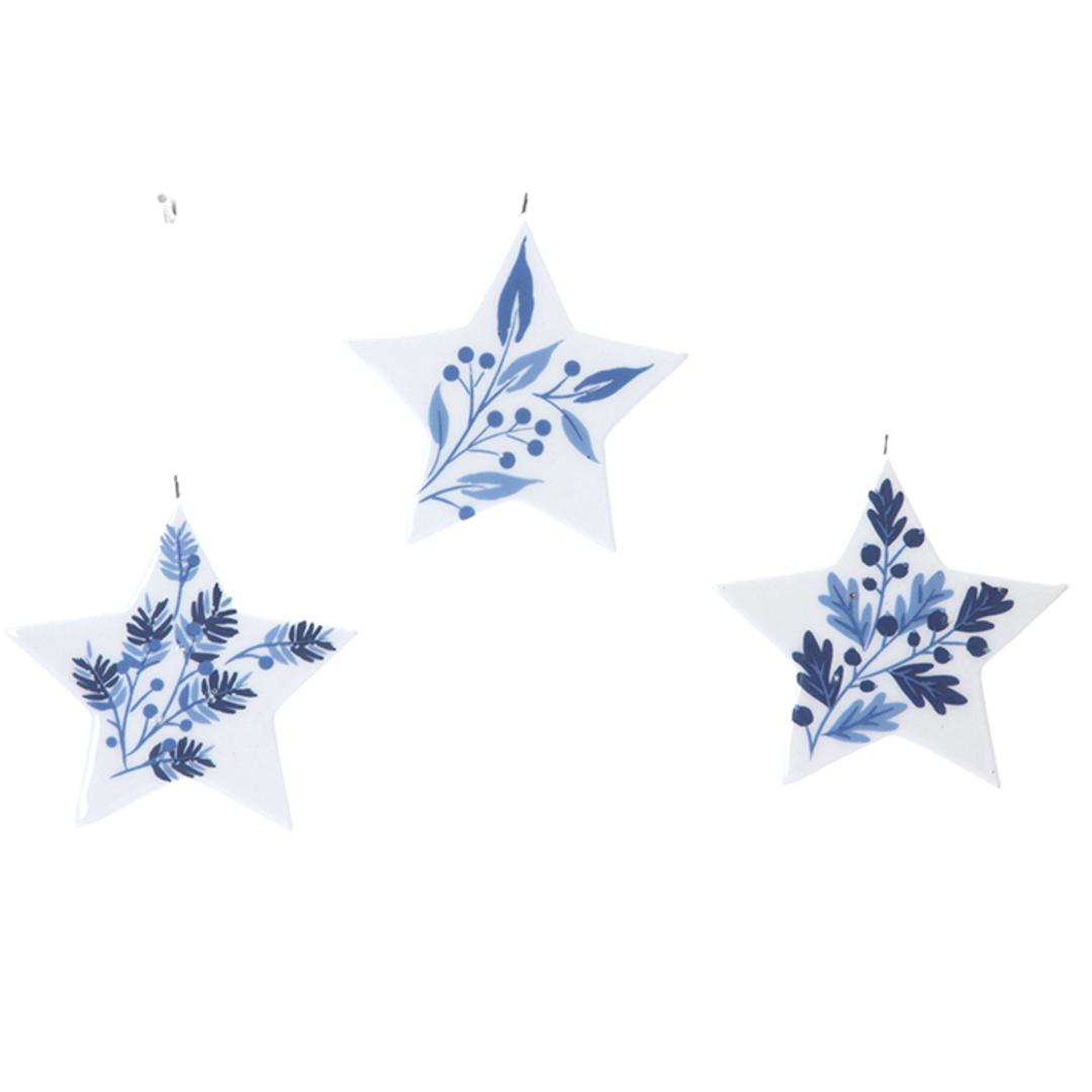 Ceramic White Blue Star 7cm image 0