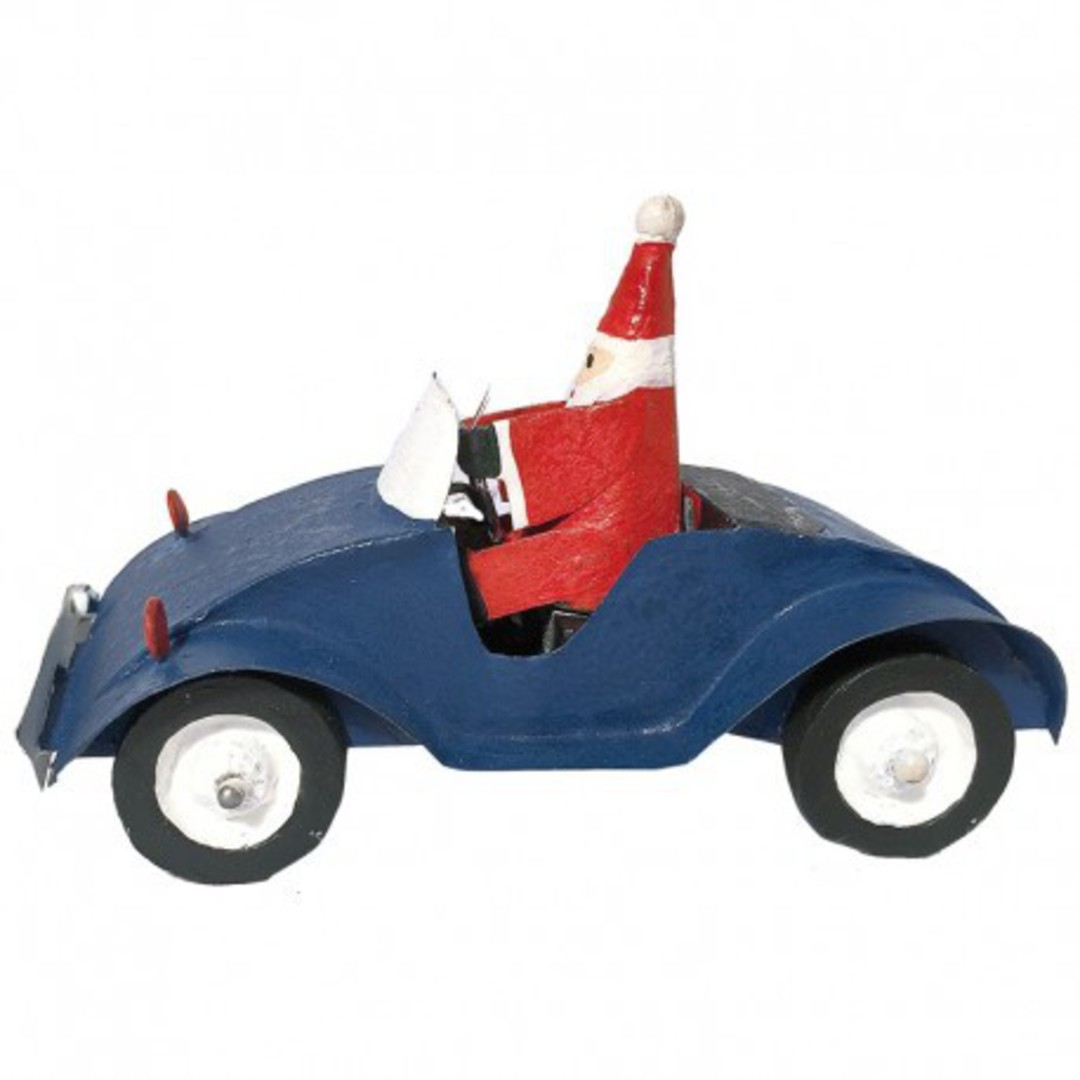 Santa in Blue Car image 0