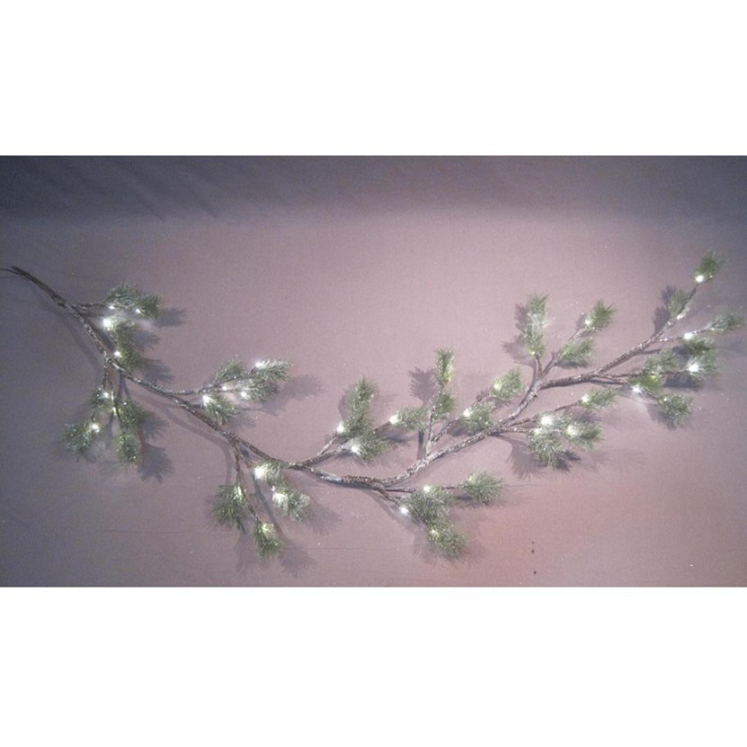 Snowy Green Pine Garland 1.8mtr, 44 LED Lights image 0