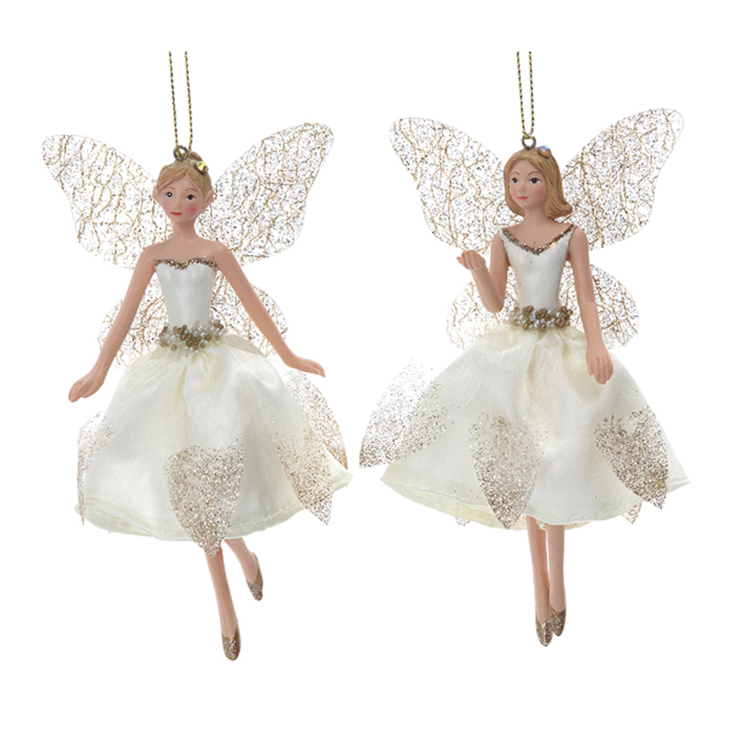 Cream Gold Peace Fairy Small 13cm image 0