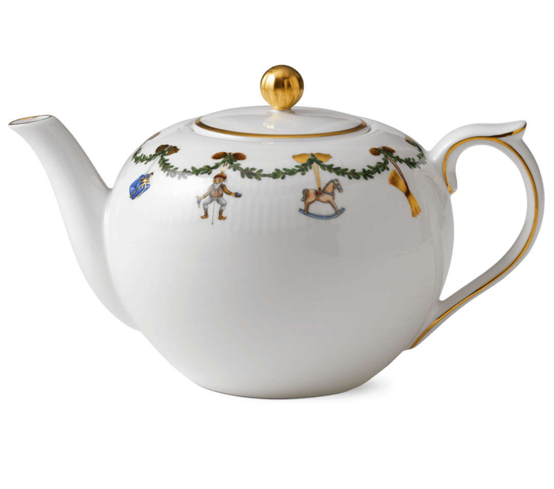 Starfluted Christmas TeaPot 1.4ltr image 0