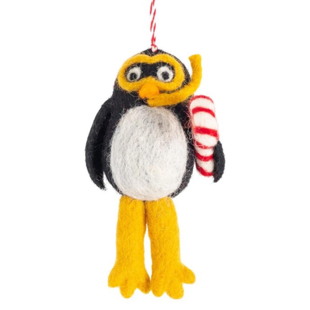 NZ Wool, Scuba Penguin 7x12cm image 0