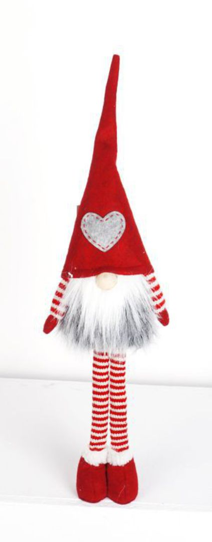Plush Tall Long Legs Santa GreyStar Hat image 0