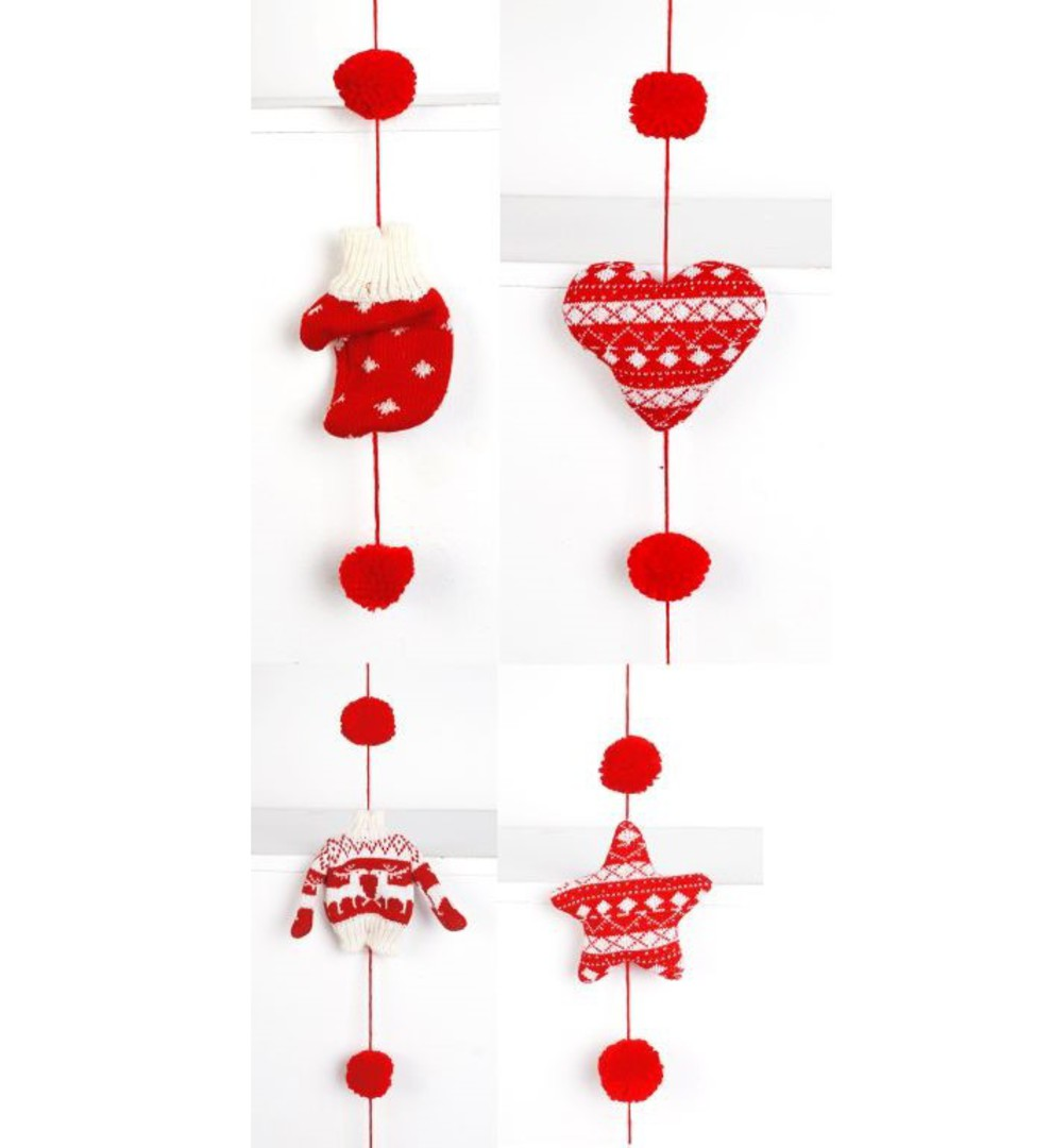 Scandi Knitted Shapes Garland 1.6mtr image 0