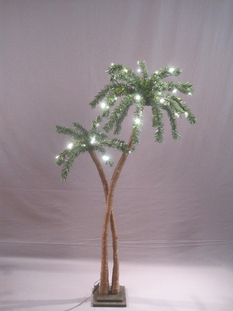 Coconut Palm Tree 1.2mtr with 48 LED Lights image 0