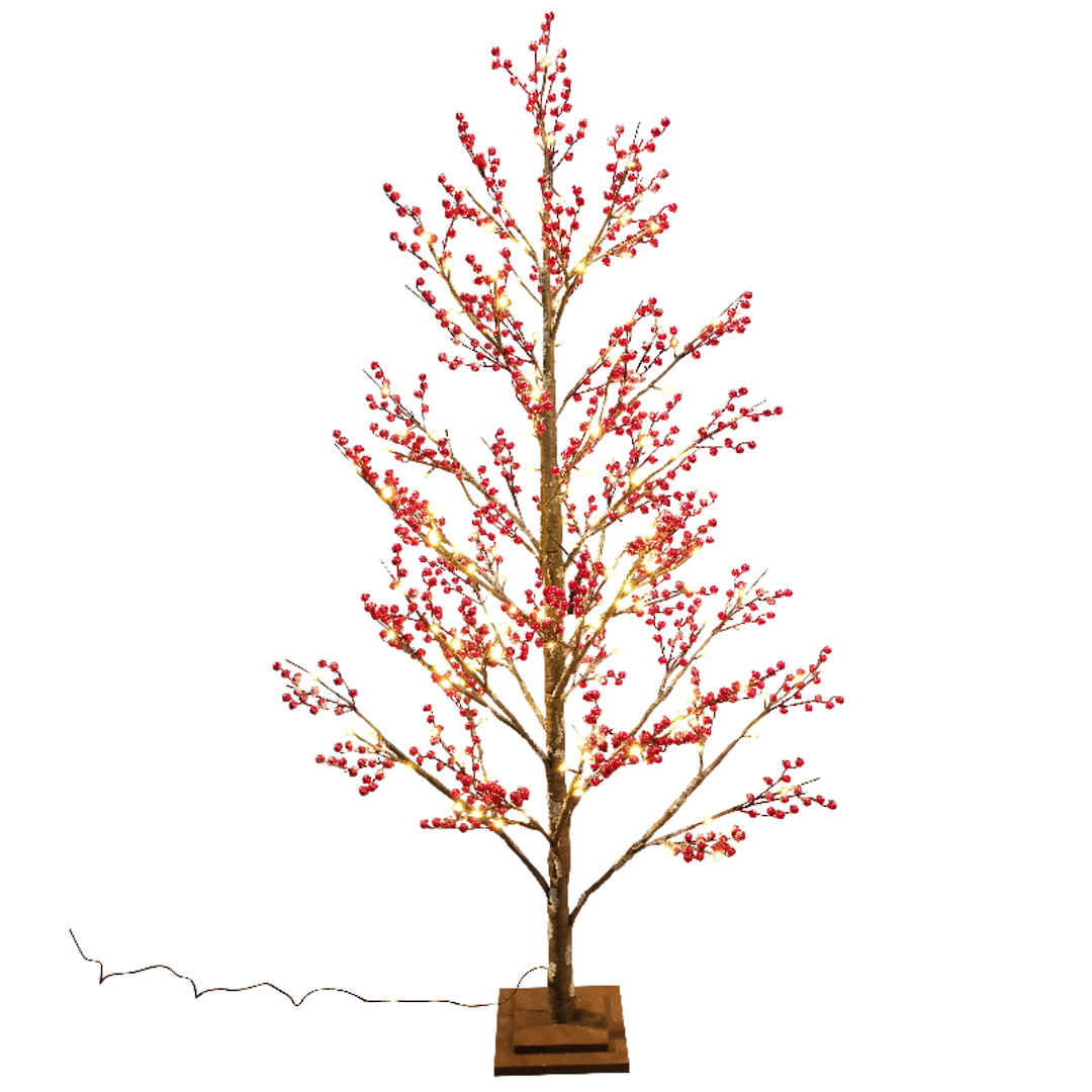 Red Berry Tree 1.2mtr, 72 LED Lights image 0