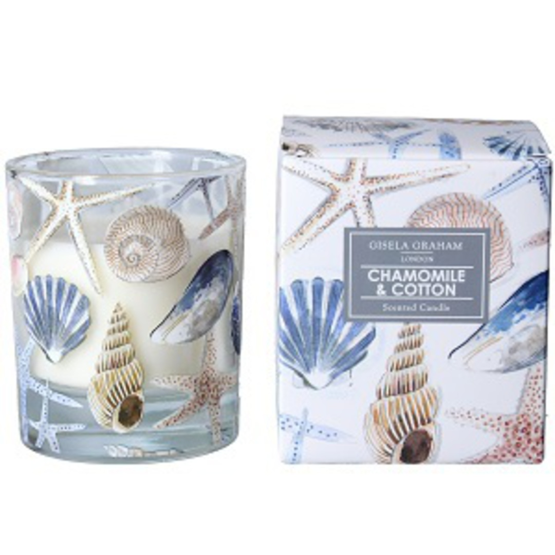 Sea Shell Design Scented Candle Jar image 0