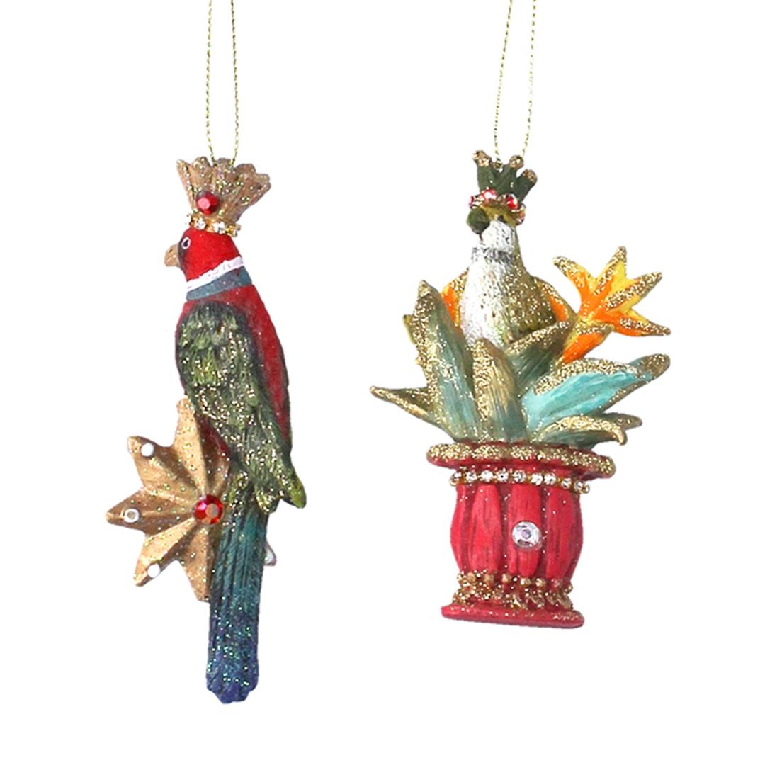 Resin Tropical Parrot 9cm image 0