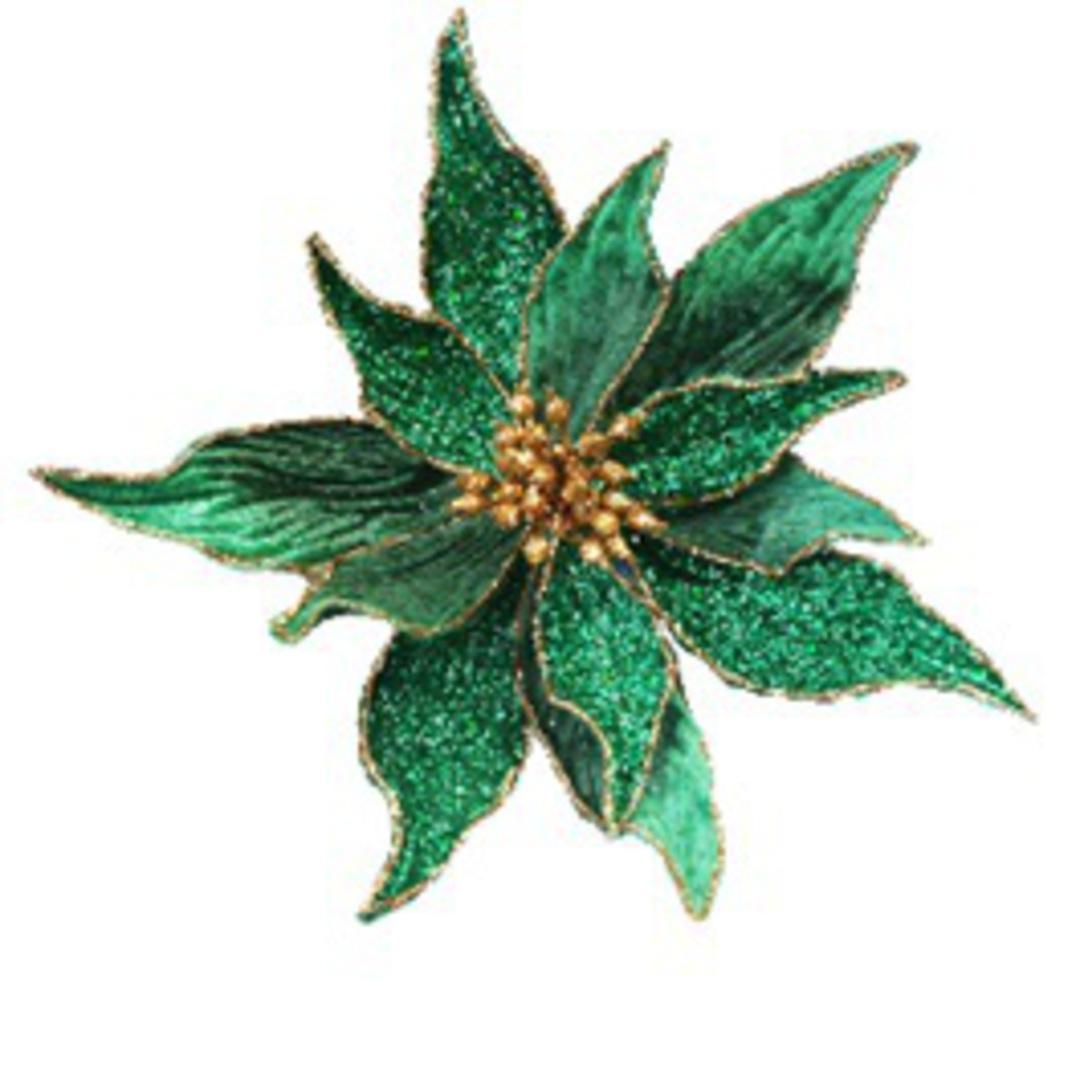 Galaxy Emerald Poinsettia Clip 27cm image 0